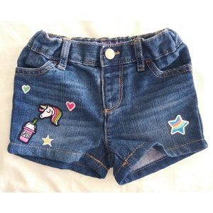 The Children's Place UNICORN Jean Shorts 2 toddler